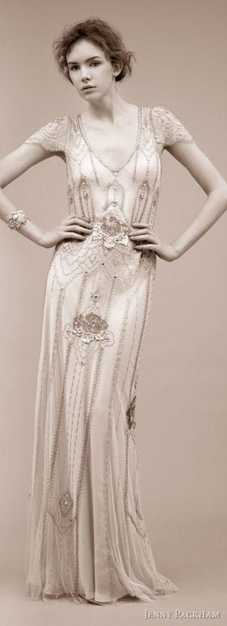 1920s evening dress.