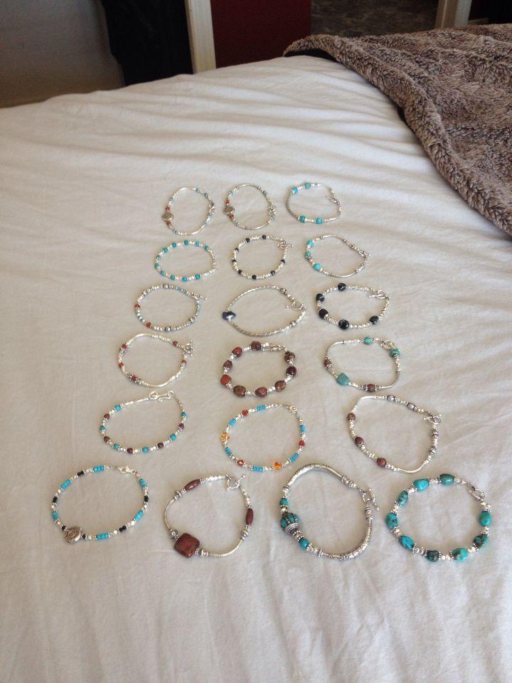 The whole batch of bracelets so far