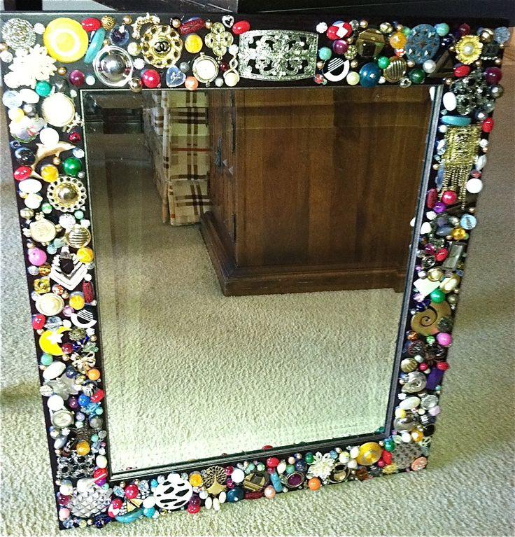 17 best images about broken jewelry crafty ideas on for Broken mirror craft ideas