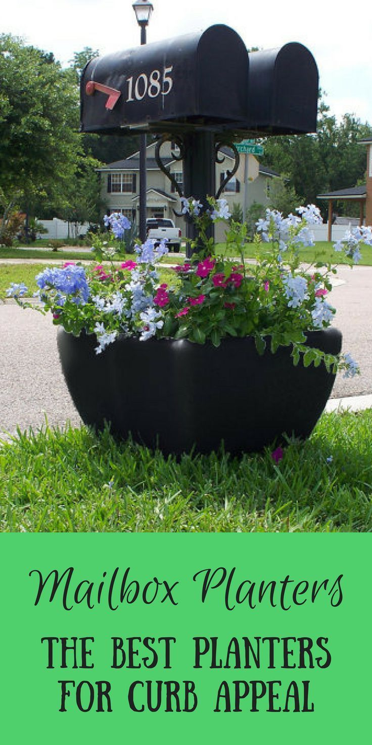 Mailbox Planters Are Such A Cute Way To Add Some Extra Curb Appeal To Your Home It Can Hold Up To 1 Large Garden Planters Garden Planters Pots Mailbox Planter