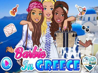 Barbie Viagem com Amigas: Barbie viajou com suas melhores amigas para Grécia. Hoje Barbie e suas amigas querem aproveitar o lindo dia na praia. Vamos meninas, vestir Barbie e suas amigas para a praia. No final elas vão tirar fotos incríveis.
