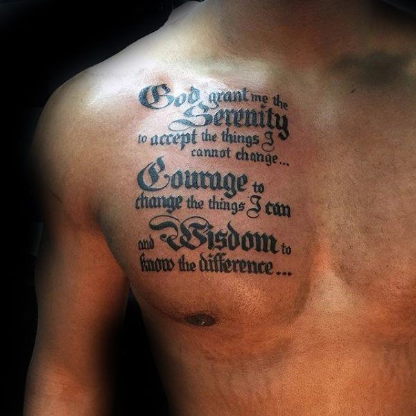 Tattoos For Guys On Chest Quotes: Best 25+ Serenity Prayer Tattoo Ideas On Pinterest
