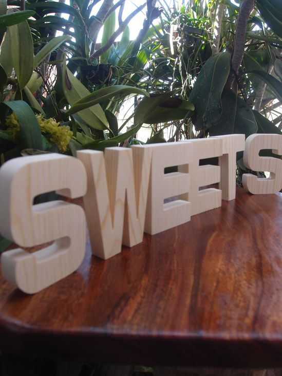 for candy barcan use at all parties wood letters sweets