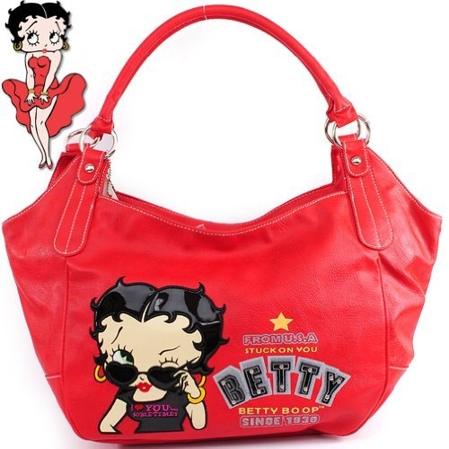 $35.99Amazon.com: Betty Boop Stuck on You Fashion Exotic Studded Tote Hobo Embroidered Handbag Purse in Red: Clothing