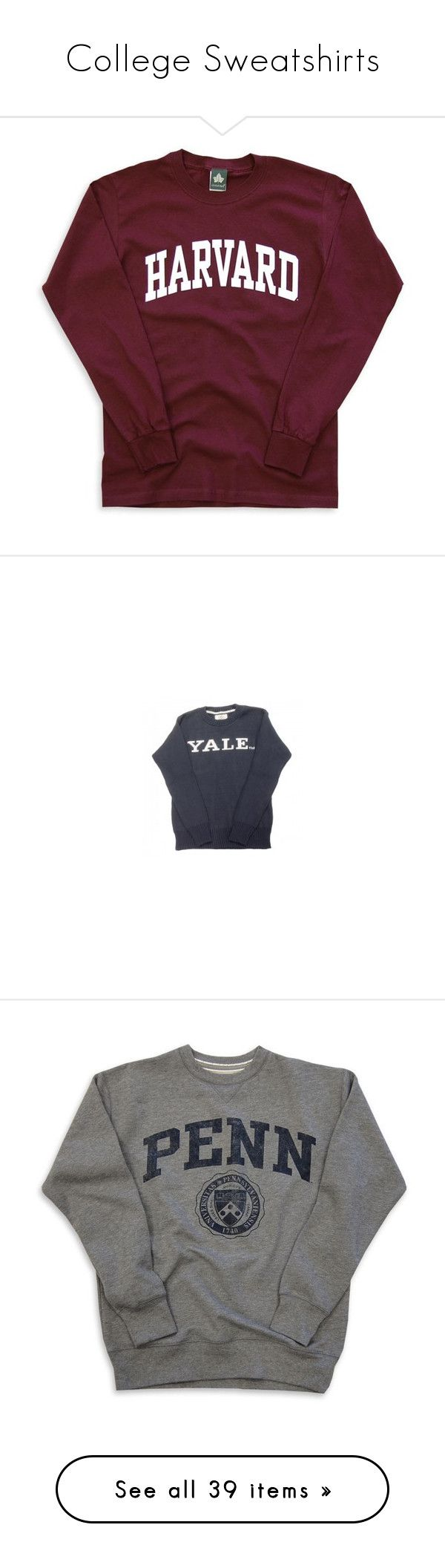 """""""College Sweatshirts"""" by lilybear115 ❤ liked on Polyvore featuring tops, hoodies, sweatshirts, shirts, sweaters, long-sleeve shirt, long sleeve cotton tops, maroon top, purple top and maroon shirt"""