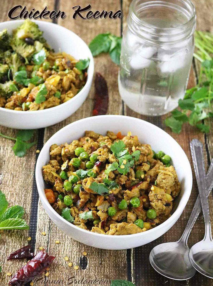 Chicken Keema - Spiced Ground Chicken Bowls! #EasyDinner