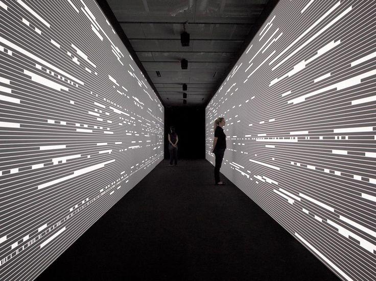 artist ryoji ikeda has put up quite a stunning installation at espacio fundación telefónica.