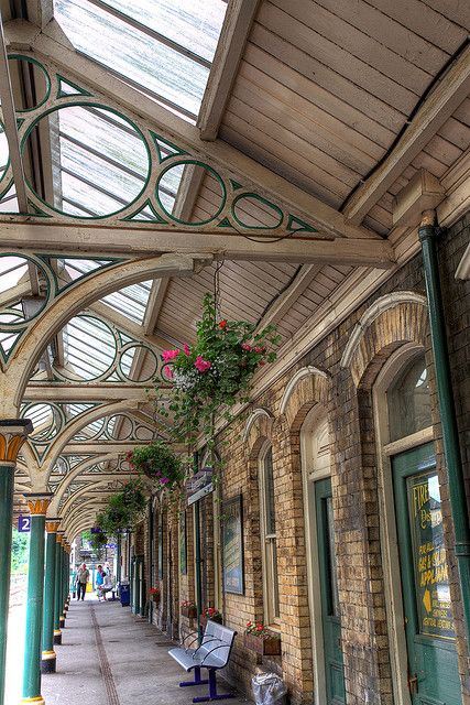 ~Knaresborough Railway Station, North Yorkshire, England~ Looking much prettier in this photo than real life!