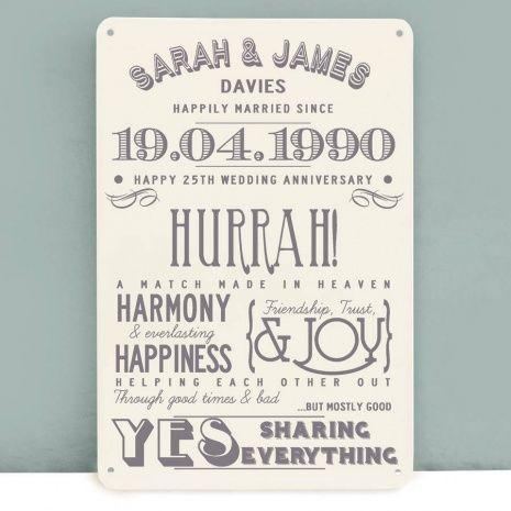 25 Wedding Anniversary Gift Ideas Friends