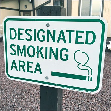 """You catch more flies with sugar than vinegar, so rather than antagonize with """"No Smoking Here"""" reach out with an…"""