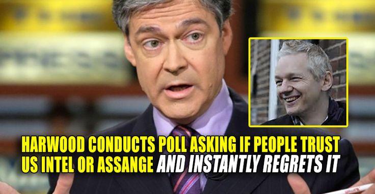 "SHOCK POLL : Majority Trust Assange Over U.S. Intel Regarding ""Russian Hacking"" – TruthFeed 1/8/17"