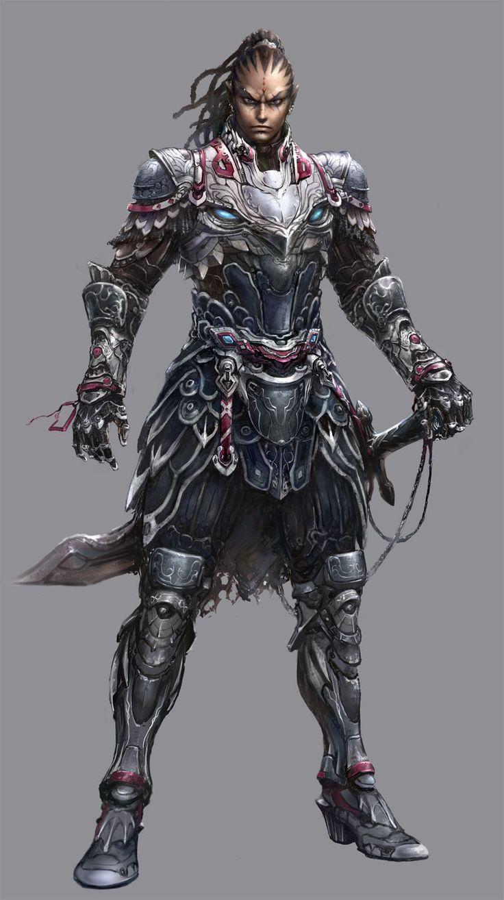 Samurai Sword Girl Wallpaper Artstation Dark Elf Warrior Android Kwang Il Park