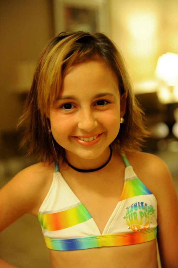 Talia Joy Castellano before cancer with hair
