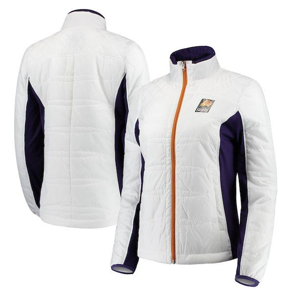 Phoenix Suns G-III 4Her by Carl Banks Women s Grand Slam Full-Zip Jacket  White Purple  PhoenixSuns 4f61a82295