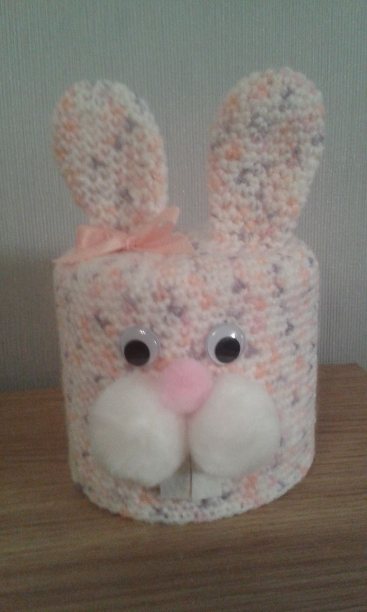 Bunny toilet roll cover