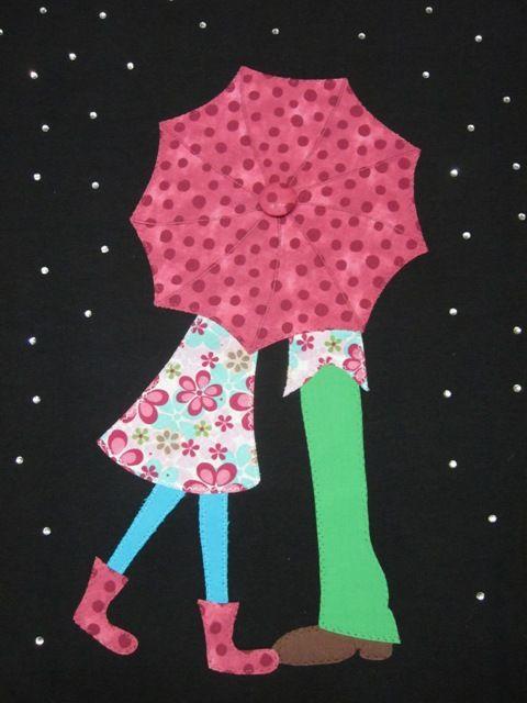Camiseta Vistelas. Enamorados bajo la lluvia