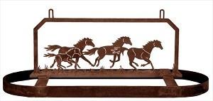Wild Horses Pot Rack