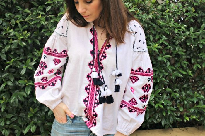 This pretty piece is a must have in every wardrobe for the warmer months. You need Seed Heritage's Aztec Embroided Blouse.