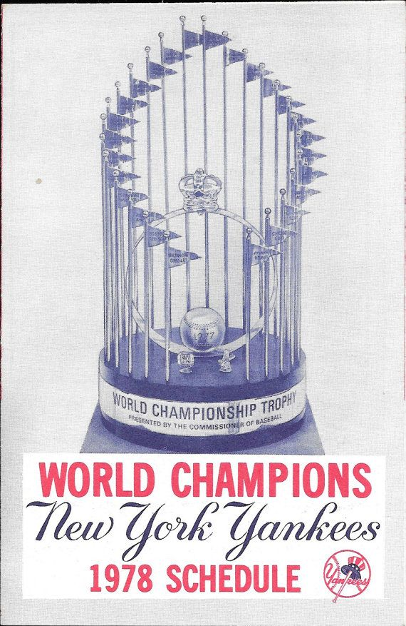 1978 New York Yankees Schedule World by mandtsimplyvintage on Etsy, $10.00
