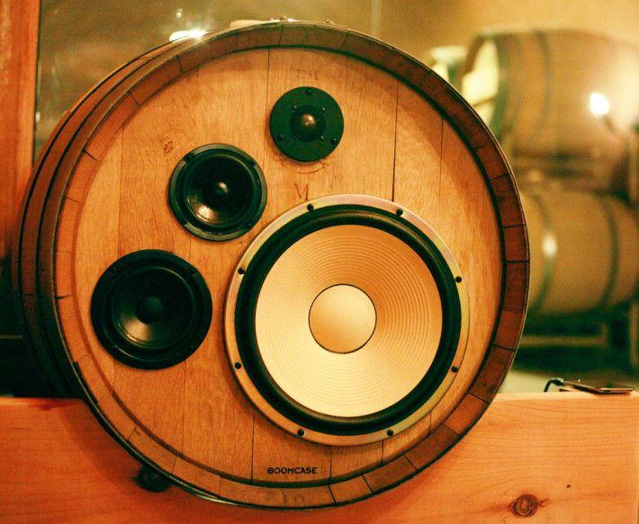 speakers rca input. boomcase + wine barrels wireless cave \u003d custom benziger turned into a completely amazing speaker system . speakers rca input