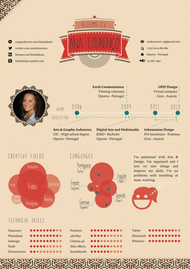 35 best CV design images on Pinterest Creative curriculum, Resume