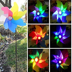 @Overstock - A traditional wind spinner by day, but a spectacular light show by night. This Solar Garden Windmill Spinner Color Changing Light features UV treated, color painted blades with colorful changing LED lights.http://www.overstock.com/Home-Garden/Solar-Garden-Windmill-Spinner-Color-Changing-Light/6825510/product.html?CID=214117 $15.99