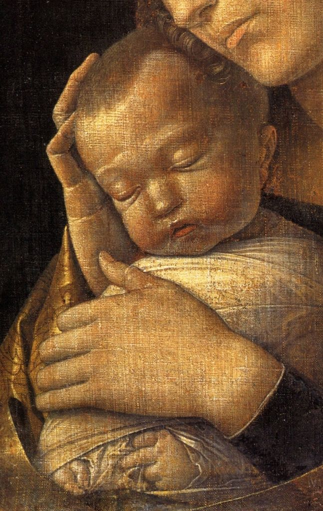 Madonna with Sleeping Child (detail) by Andrea Mantegna, ca. 1465-70