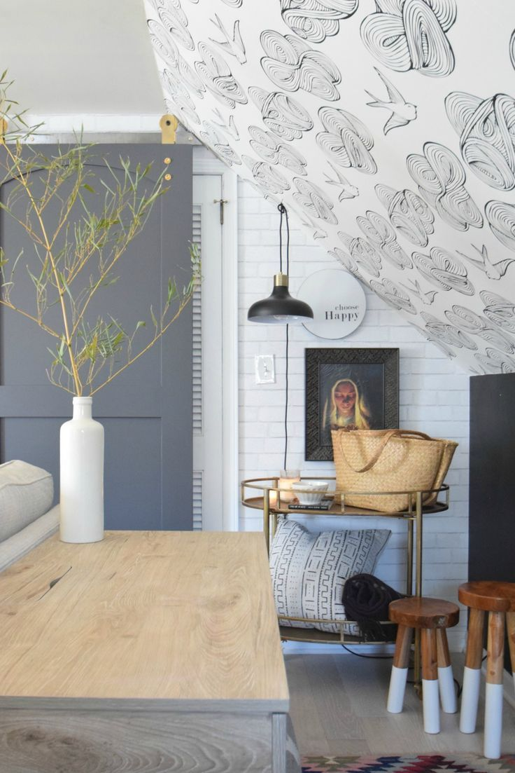 Daydream Wallpaper And The Legos Nesting With Grace Wallpaper Accent Wall Daydream Wallpaper Wallpaper Ceiling #wall #coverings #ideas #living #room