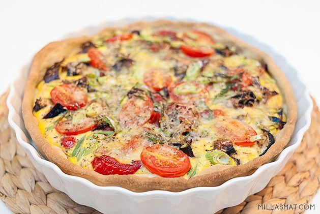 Grønnsakspai fra Provence   Millas Mat
