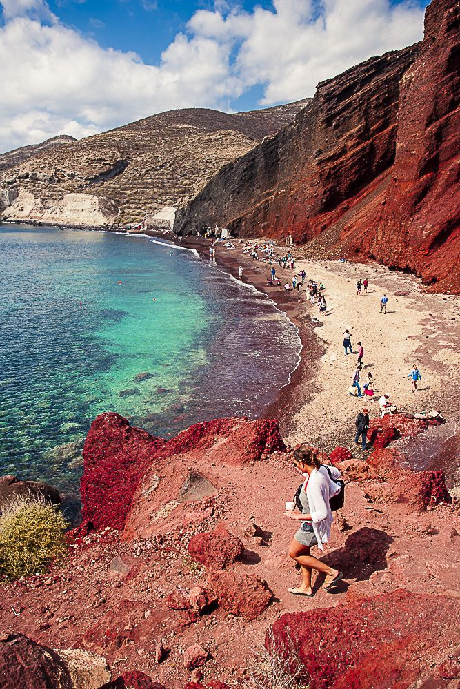 Red Beach , Santorini by Agnieszka Bak