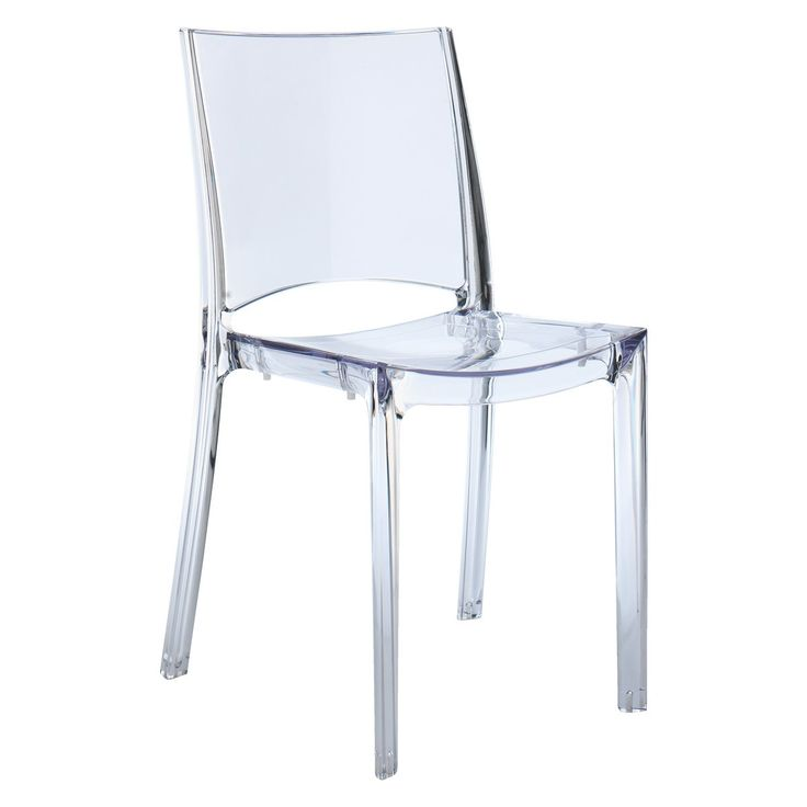 VERNE Clear plastic stackable dining chair