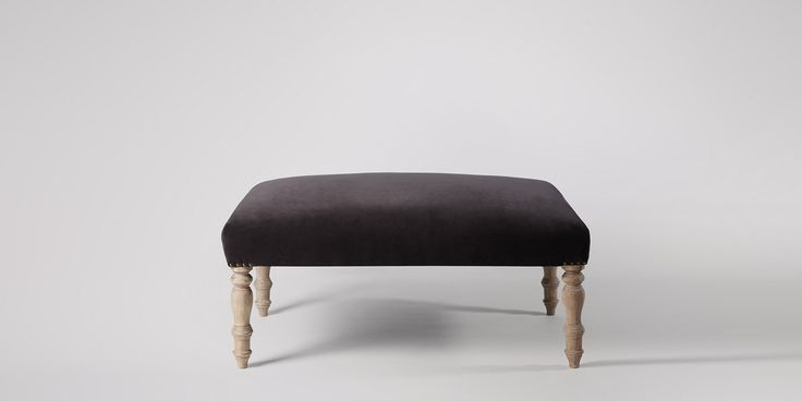 Swoon Editions Ottoman, modern country style in Dark Grape - £269