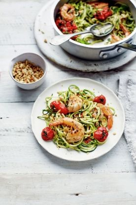 Lemony prawn courgetti | Jamie Oliver