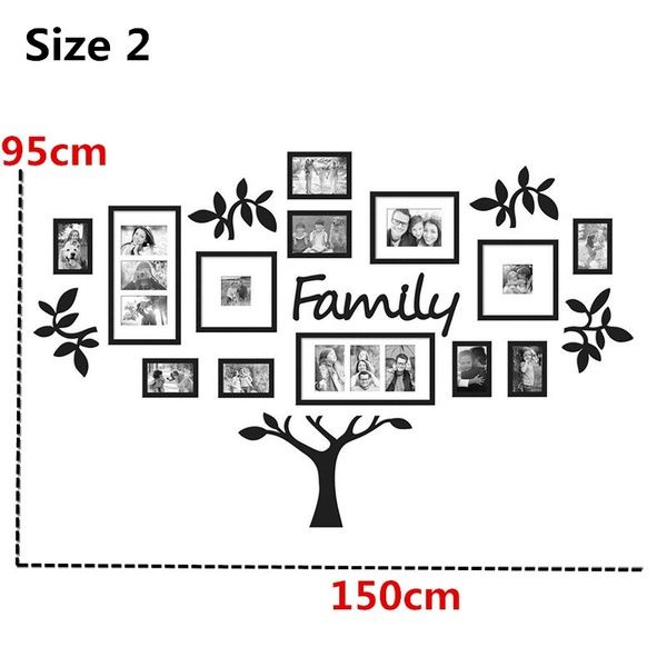 3d Chic Family Tree Photo Frame Wall Stickers Acrylic Wall Frame Wall Tree Wall Decal Sticker Mur Family Tree Collage Family Tree Photo Family Tree Photo Frame