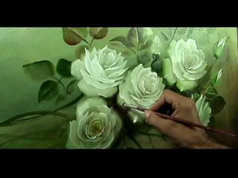 pintando um quadro de rosas parte 4