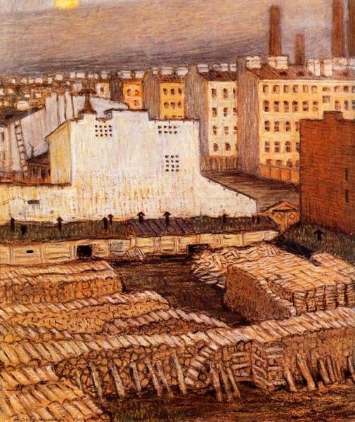 Rooftops - Mstislav Dobuzhinsky - WikiArt.org