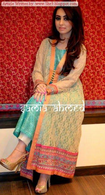 Samia Ahmed Winter-Fall 2014-2015   Winter Luxury Pret for Girls - FASHIONPAB   FASHIONPAB