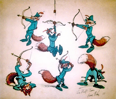 Ken Anderson sketches from Disney's Robin Hood (from the collection of Will Finn)