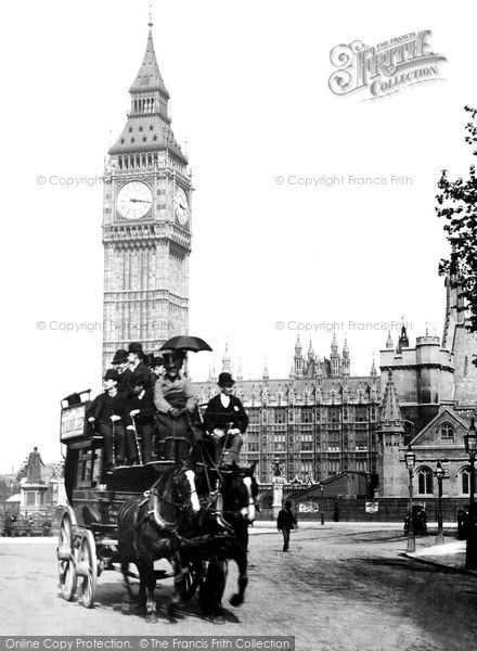 London, Parliament Square 1890. From The Francis Frith Collection, a privately-owned archive of over 130,000 photographs of Britain from 1860-1970 that you can browse online for free anytime. #francisfrith #photography #nostalgia