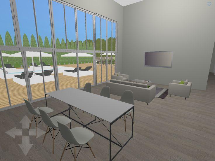 Awesome Plan 3D : Salon , Salle à Manger Logiciel : Home Design 3D Gold