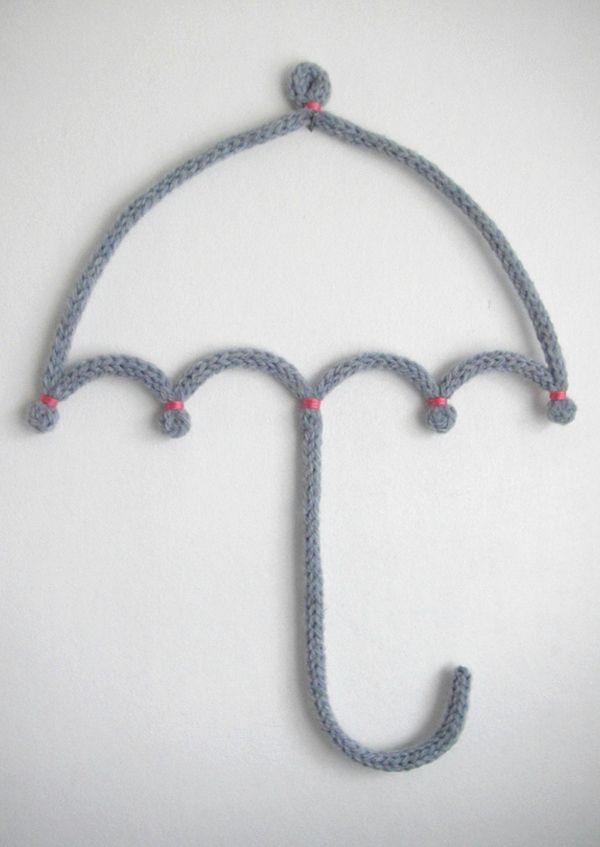 Parapluie en tricotin - Les fil feuilles