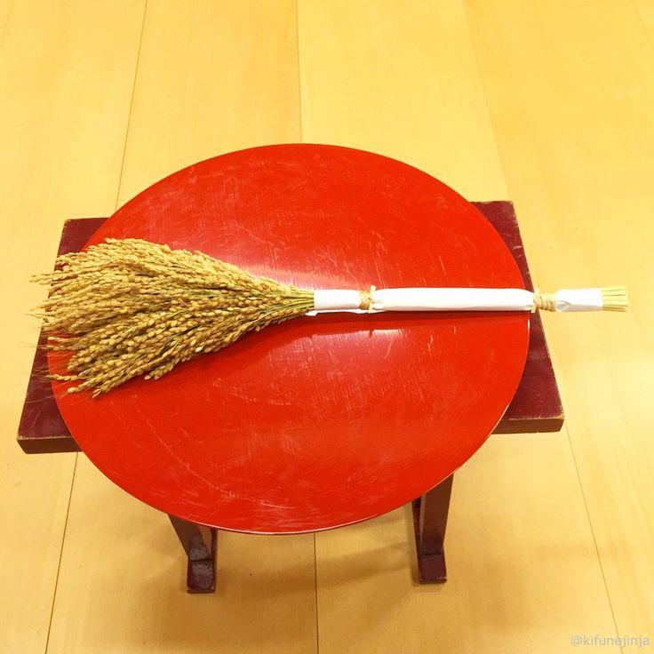 本日は新嘗祭(にいなめさい)という祭日です。宮中をはじめ、全国の神社で執りおこなわれる重要な祭儀です。新穀や新酒を神々に奉り、神の恵みに感謝を捧げて収穫をお祝いするというお祭りです。 #氣生根 #貴船神社 #kifune (kifunejinja)