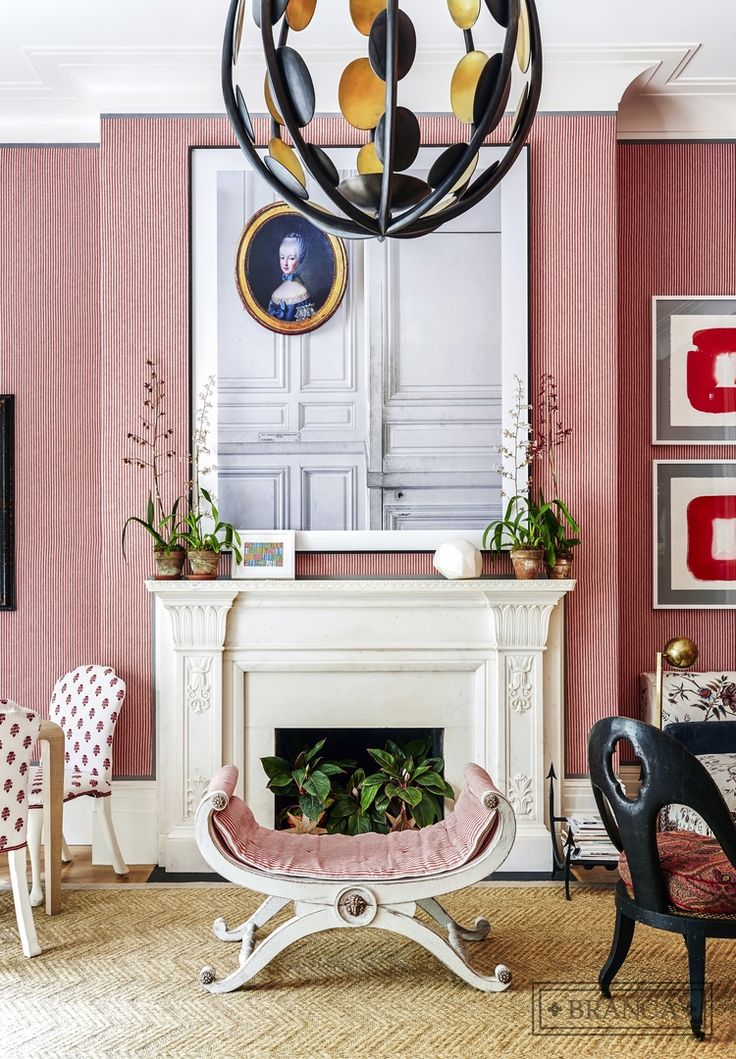 Designer Crushing On Alessandra Branca Red Living Room At Kips Bay Decorator Showhouse 2015