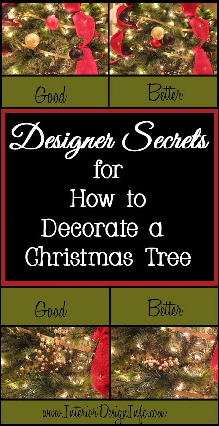 Almost anyone can decorate a Christmas tree, but there are a few secrets that designers have learned to make a Christmas tree look like it belongs in a design magazine. The best designers think outside of the box and use creativity to set their Christmas tree apart from the others. They often follow some rules, but bend the rules a bit to add interest. Here are a few designer secrets that you can use to make your Christmas tree a show stopper this year, but feel free to put your own twist