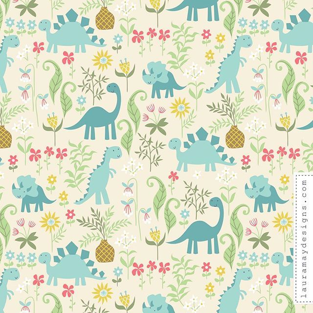 29 best floral dinosaur sfweeklydesign images on for Dinosaur fabric