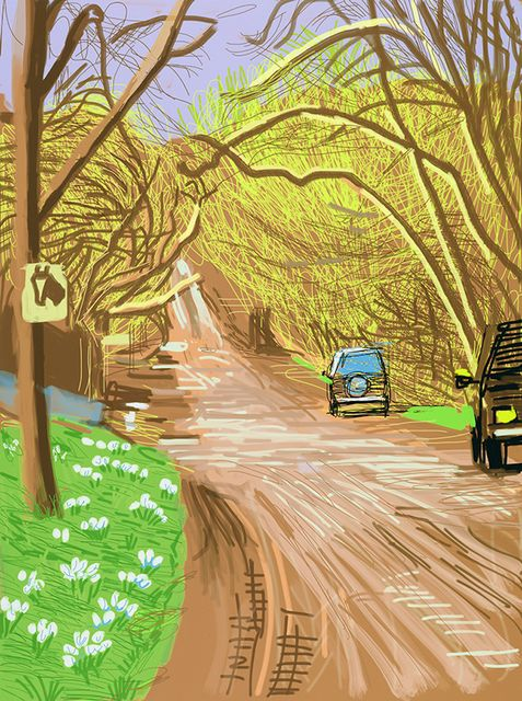 David Hockney   The Arrival of Spring in Woldgate, East Yorkshire in 2011 (twenty eleven) - 5 March 2011 (2011), Available for Sale   Artsy