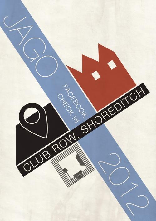 Modern Jago - #NFC enabled Facebook Check In -Bauhaus Style. So good! #jago #bauhaus #posterdesign #graphic