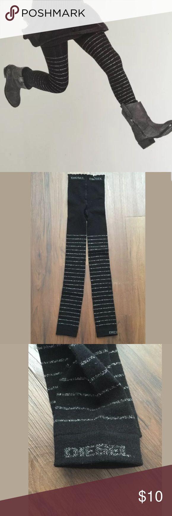 NWT DIESEL Girls black Legging DIESEL kids black and silver leggings  New unused. Diesel Bottoms Leggings