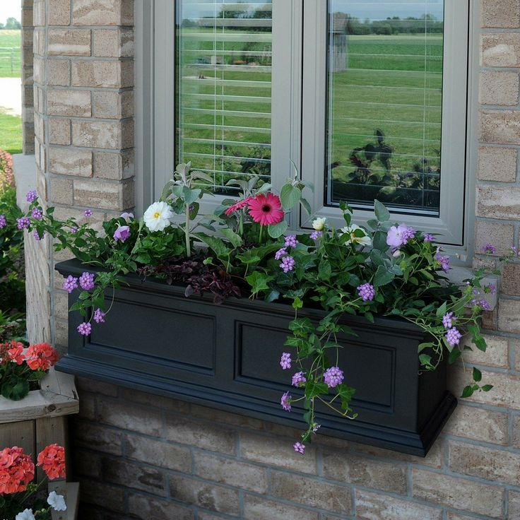Why limit your style to the indoors? This outdoor planter has a built-in water reservoir allowing the plants to practically water themselves!