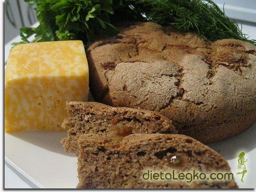 Хлеб из ржаной муки с клетчаткой и сухофруктами. | диетические рецепты